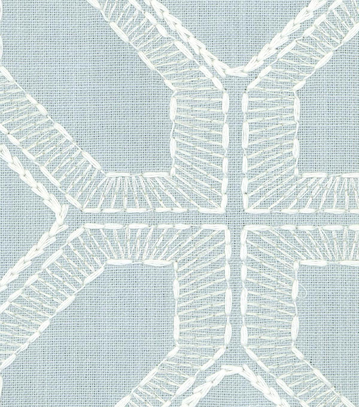 Williamsburg Upholstery Fabric 54\u0027\u0027-Vapor Barraud Embroidery