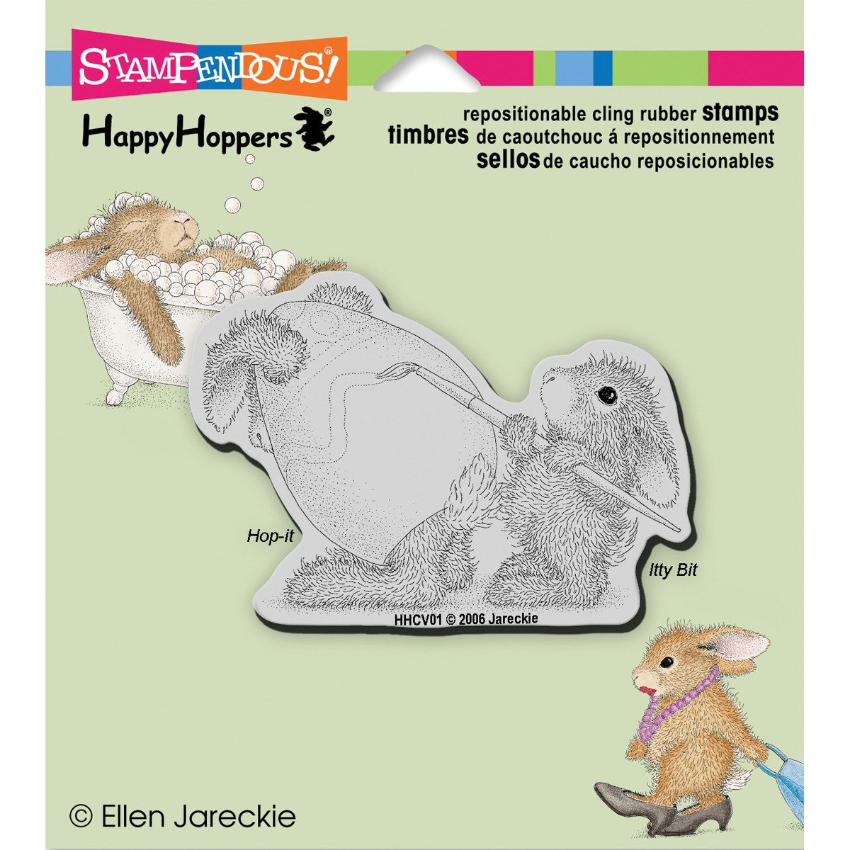 Stampendous HappyHoppers Cling Stamp Easter Bunny