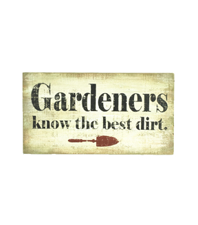 In The Garden Table Decor-Gardeners Know Dirt