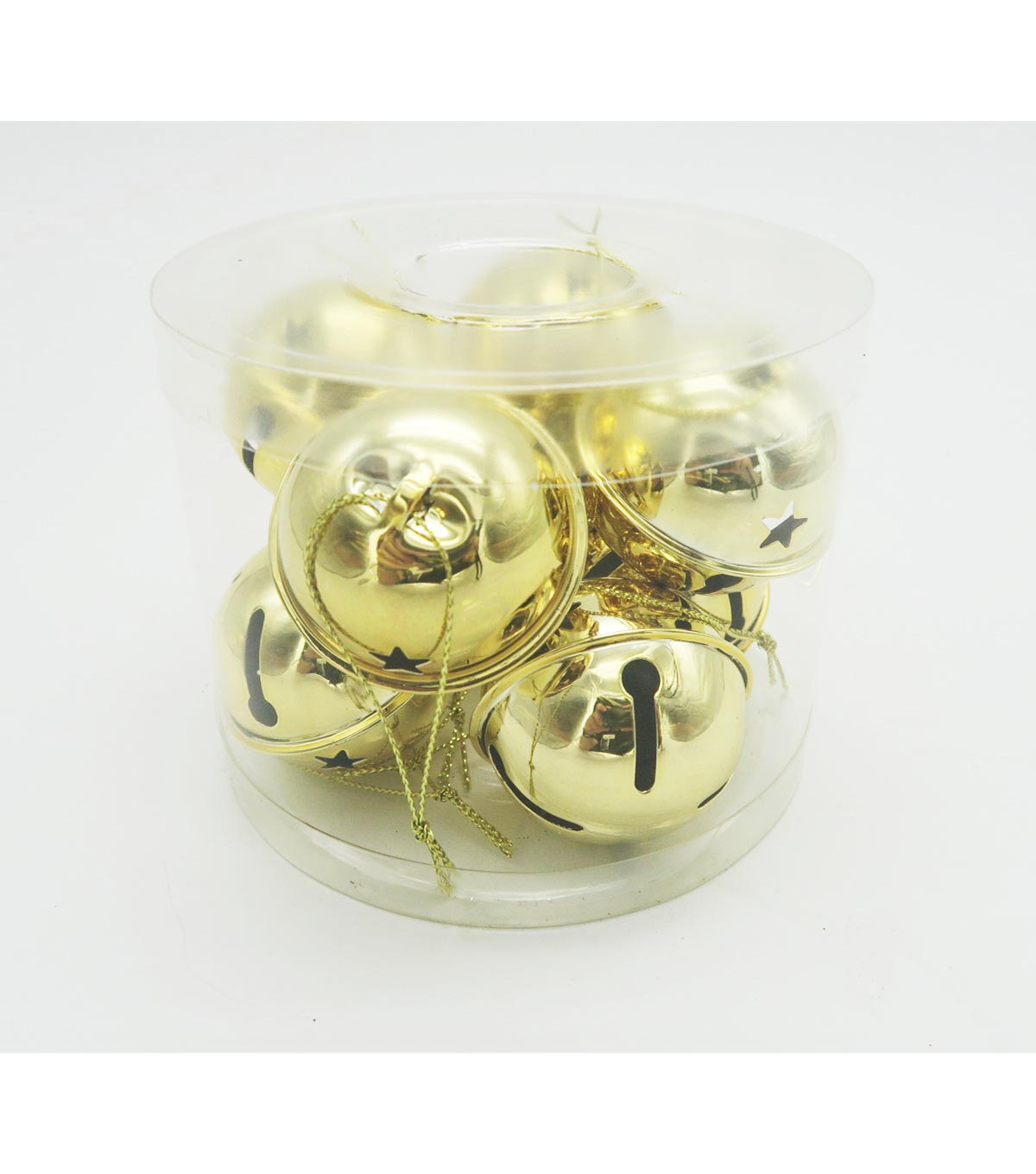 Maker's Holiday 8 Piece Gold 50mm Jingle Bells