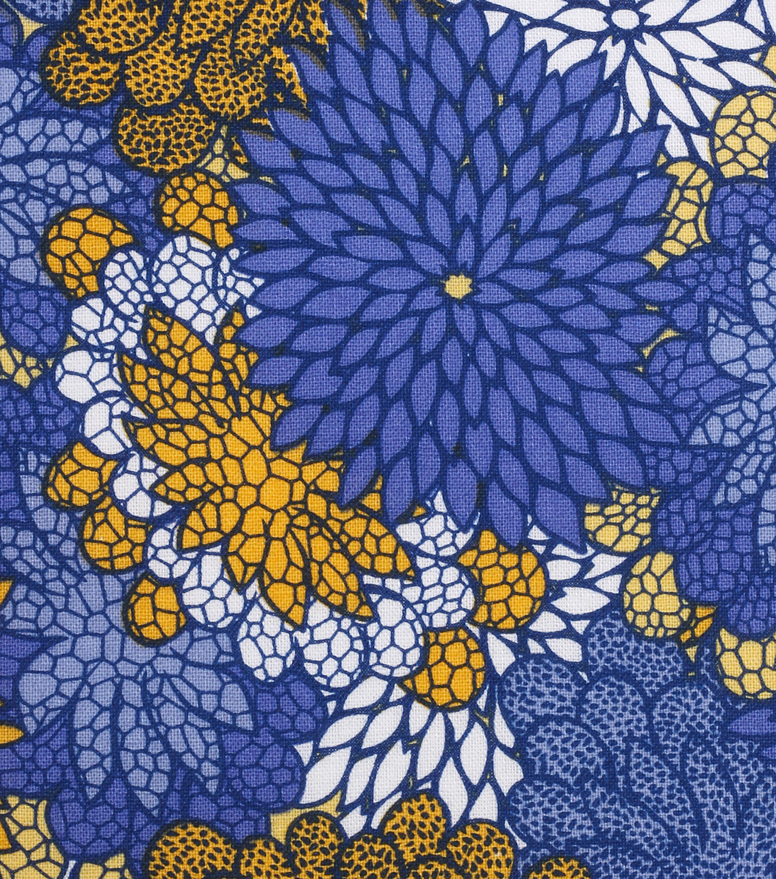 "Keepsake Calico™ Cotton Fabric 43""-Yellow Blue Packed Floral"