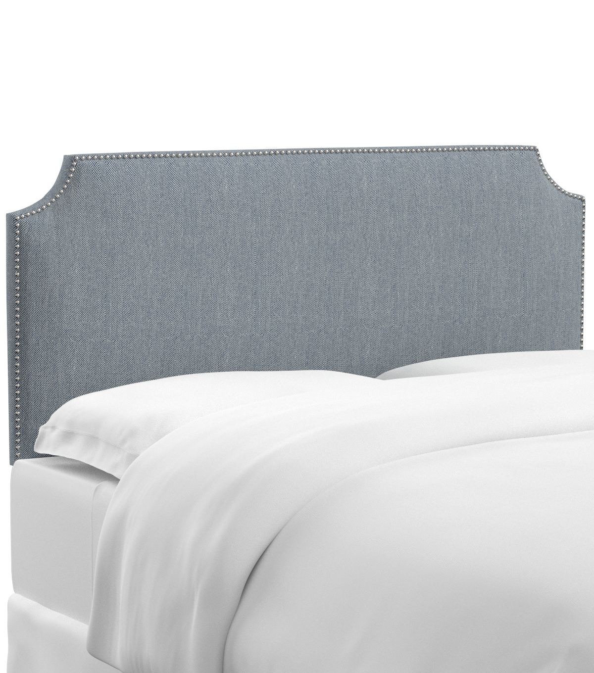 Skyline Furniture Notched Nail Button Headboard-Queen