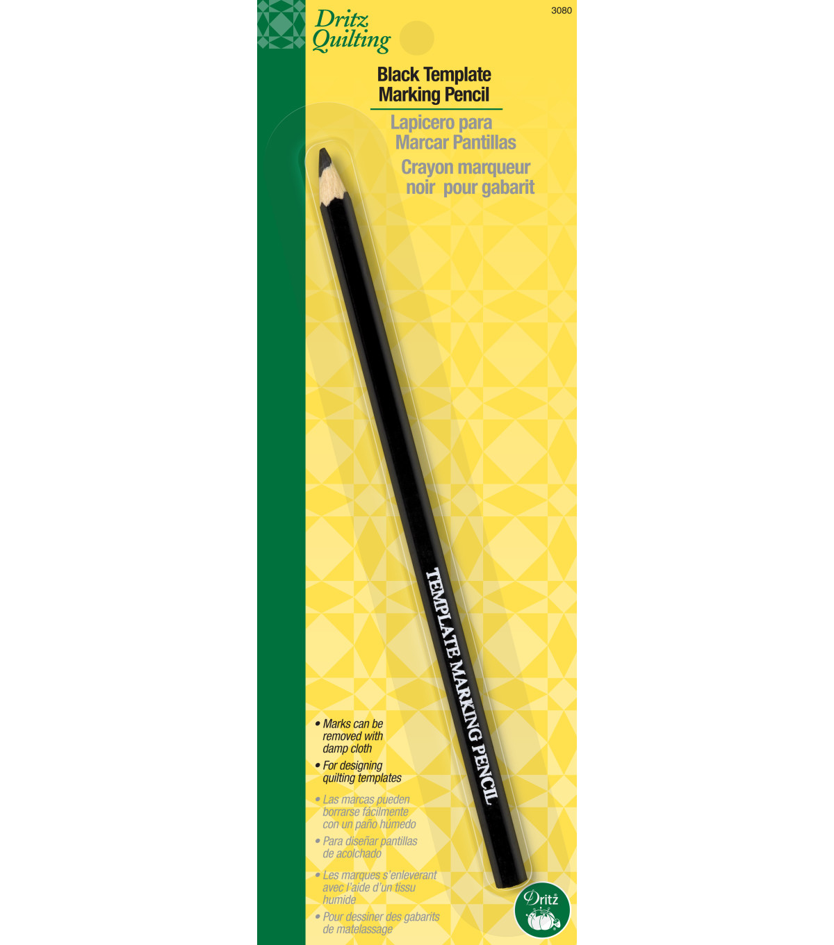 Dritz Quilting Template Marking Pencil Black