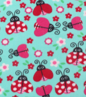 "Blizzard Fleece Fabric 59""-Patterned Ladybugs"