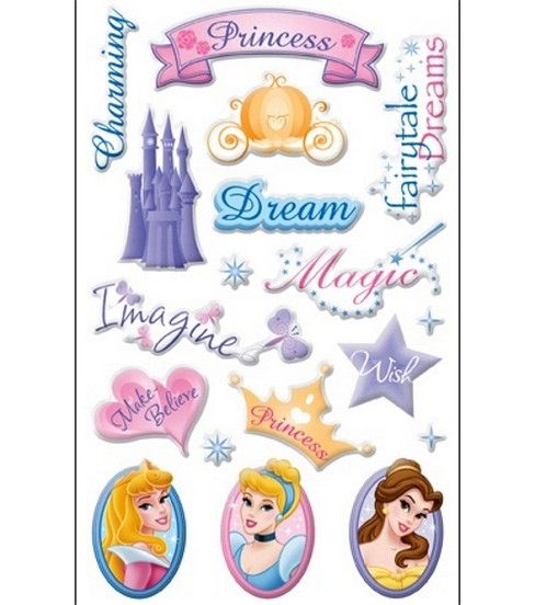 Disney Princess Gems Stickers-Magical Memories