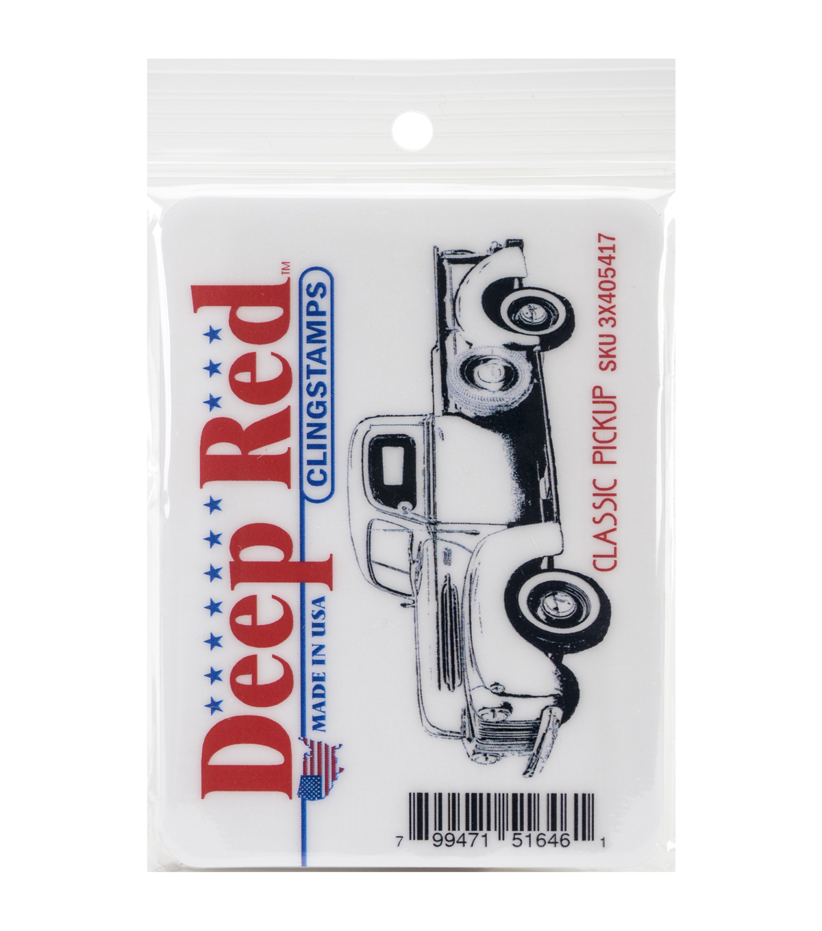 Deep Red Stamps Cling Stamp-Classic Pickup Truck