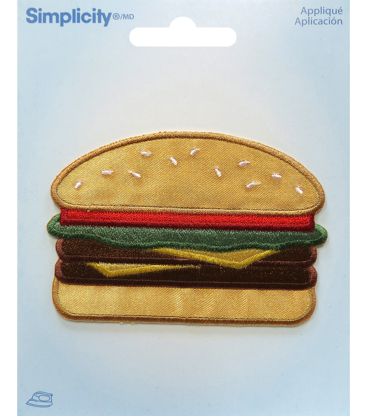 Simplicity® Embroidered Iron-On Applique-Hamburger