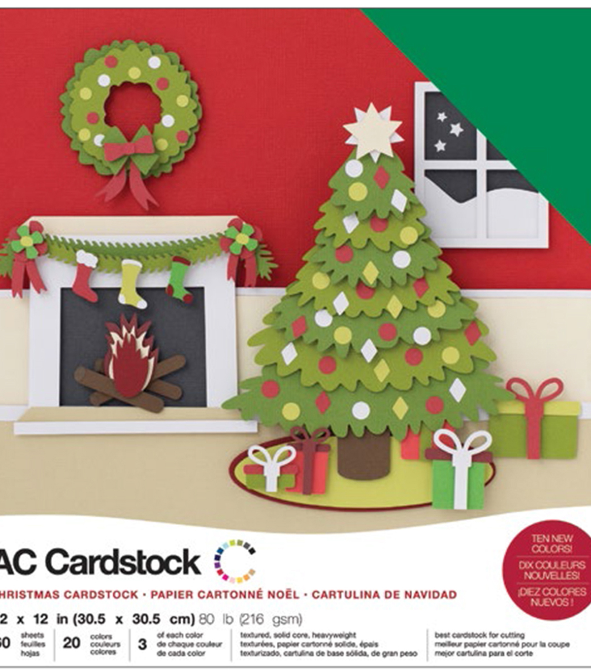 "American Crafts Variety Cardstock Pack 12""X12""-Christmas"