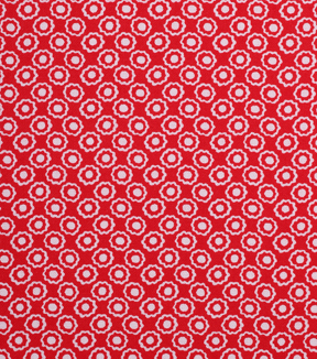 1930\u0027s Cotton Fabric 43\u0022-Floral Dot Red