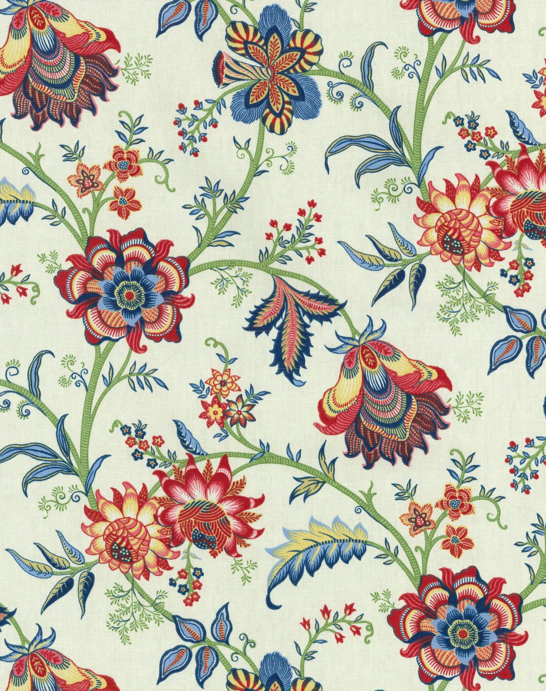 "P/K Lifestyles Print Fabric 54""-Island Gem/Jewel"