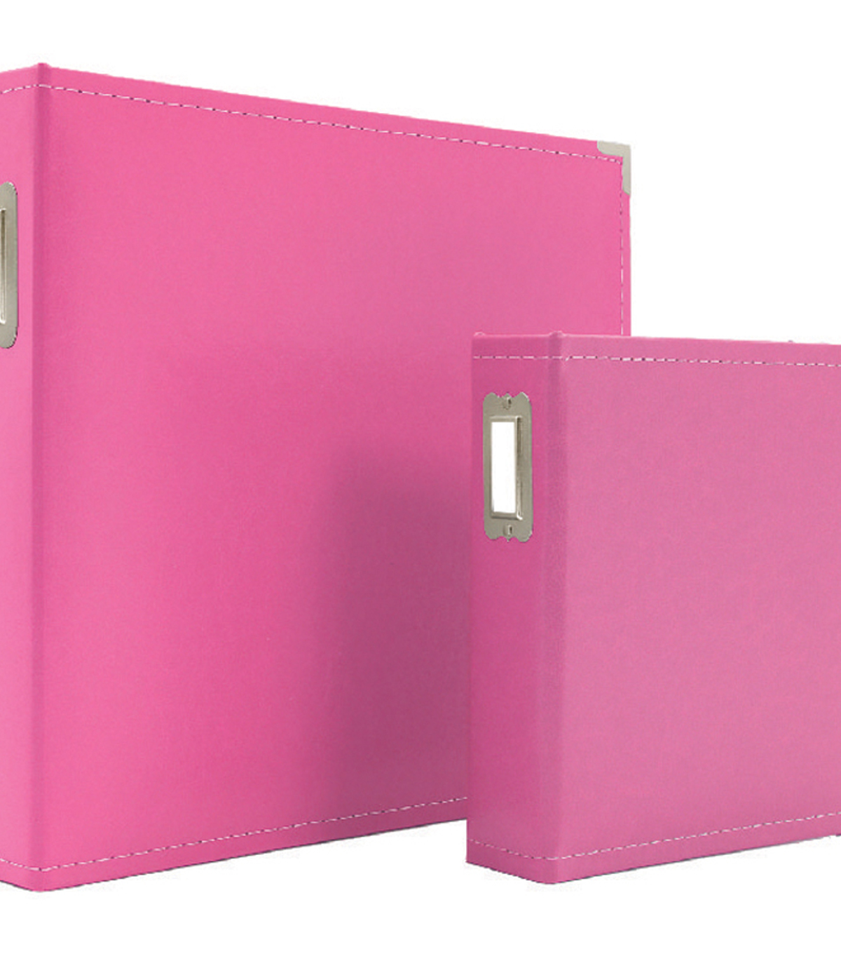 Sn@p! Leather Binder 6\u0022X8\u0022-Pink