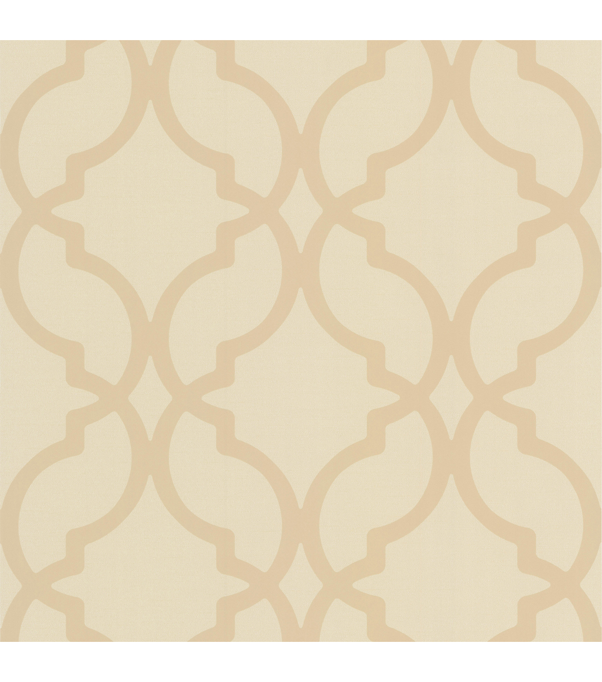 Harira Beige Moroccan Trellis Wallpaper Sample