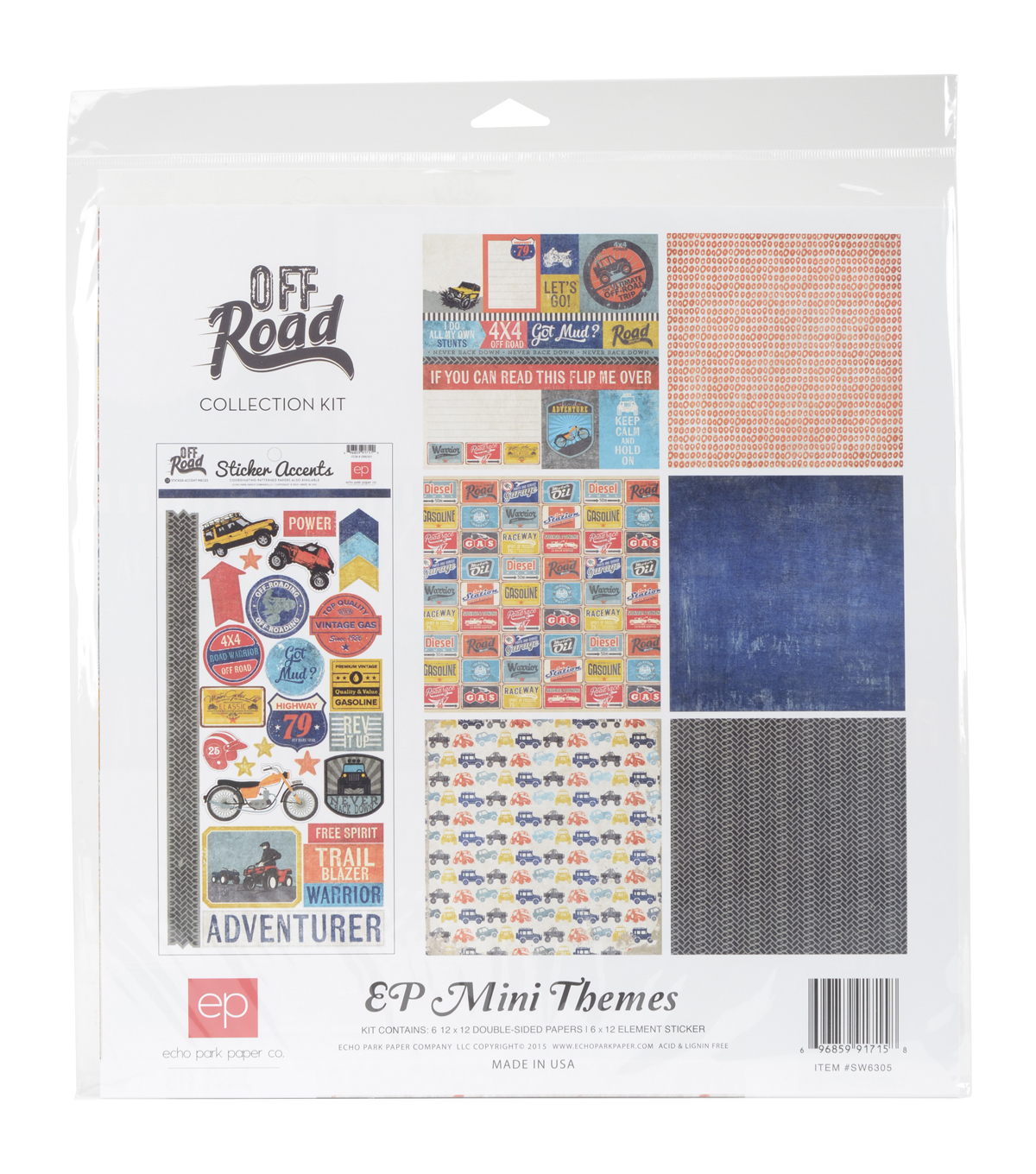 Echo Park Paper Company™ Off Road 12\u0022x12\u0022 Collection Kit