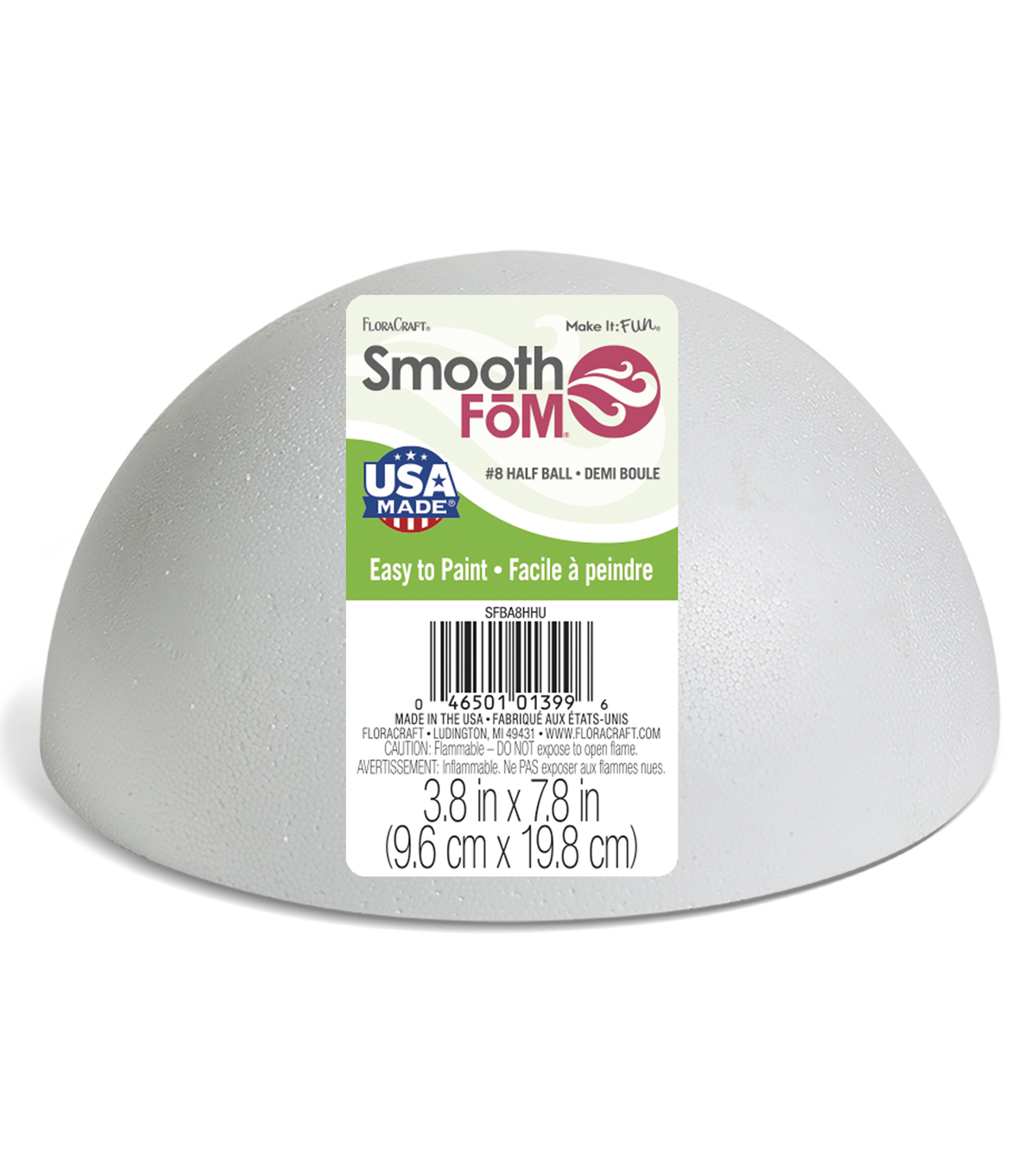 Smoothfoam 8 Inch Half Ball