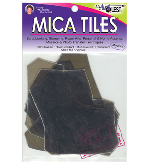 UA Artquest 5\u0022x6\u0022 1 oz. Mica Tile Embellishments