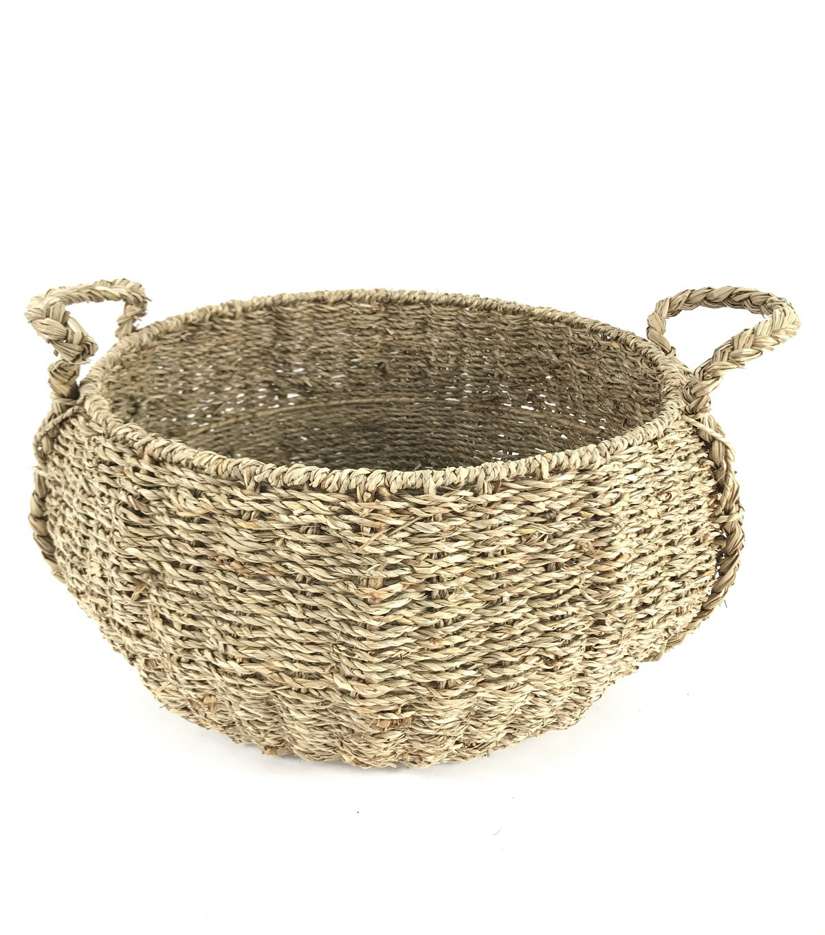 Idea Market Hand-Done Large Seagrass Basket-Natural
