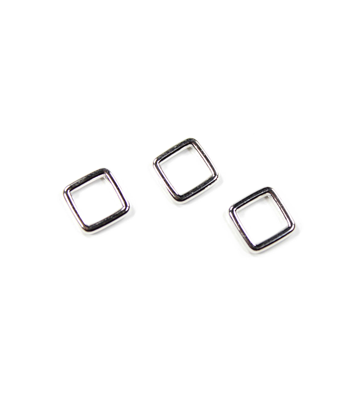 Blue Moon Findings Connector Ring Metal Square 8mm Silver