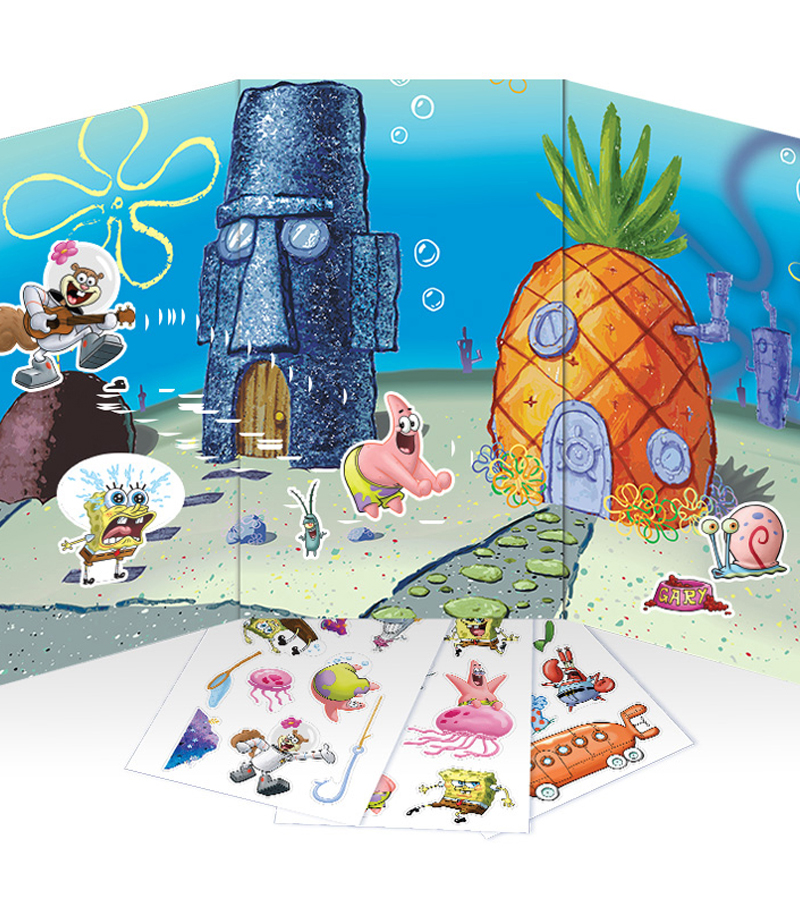 Colorforms On The Go Re-Stickable Sticker Set-SpongeBob