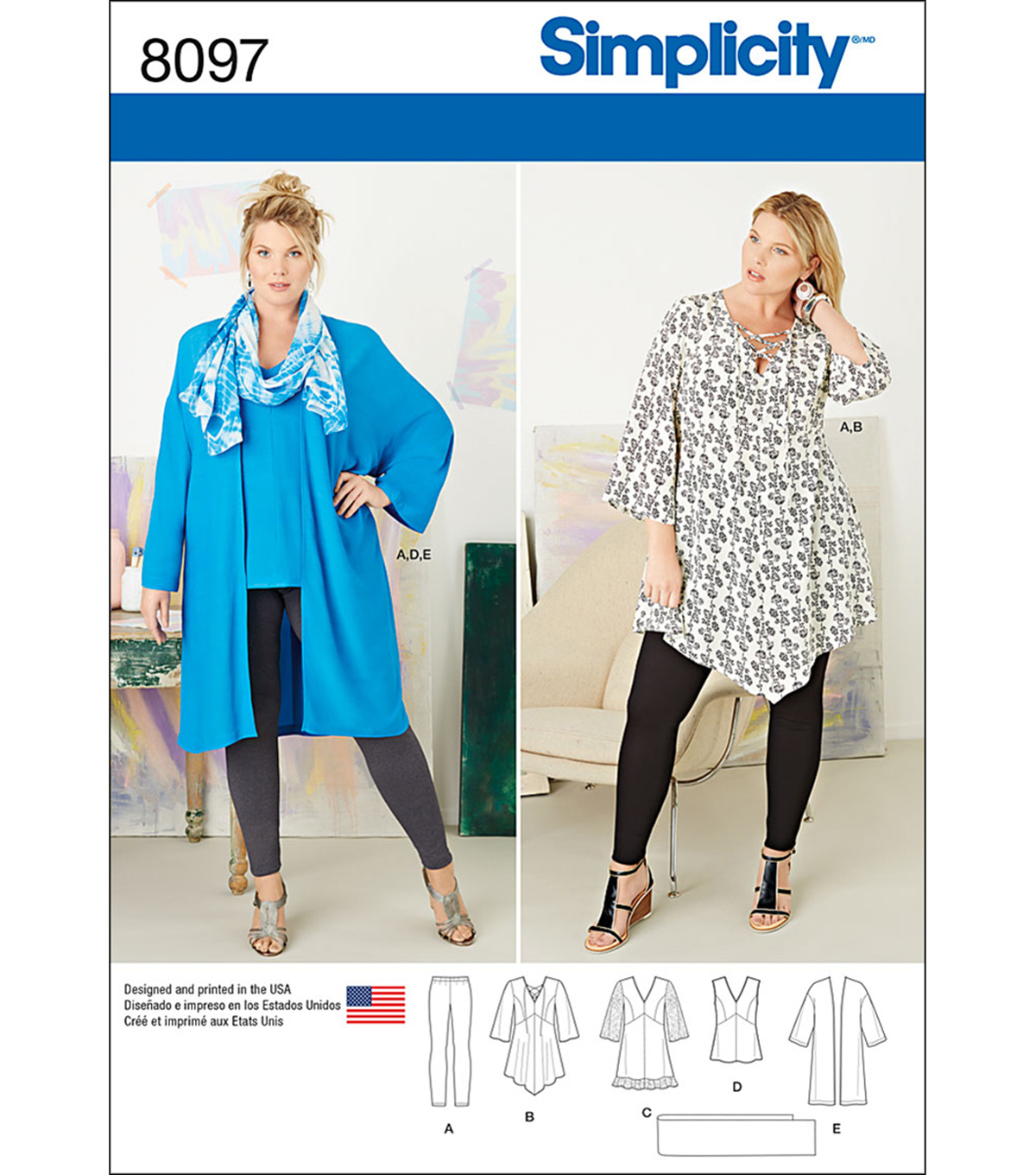 Simplicity Patterns US8097Gg PlUS Sizes-26W-28W-30W-32W