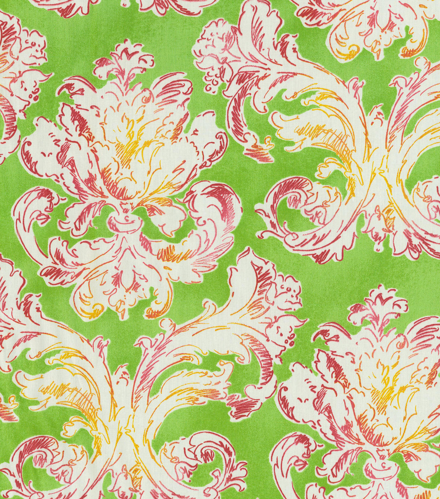Waverly Print Fabric-Classic Curves/Spring