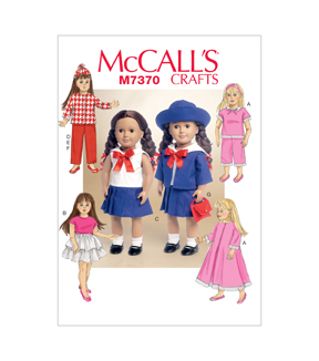 McCall\u0027s Crafts Doll Clothes-M7370