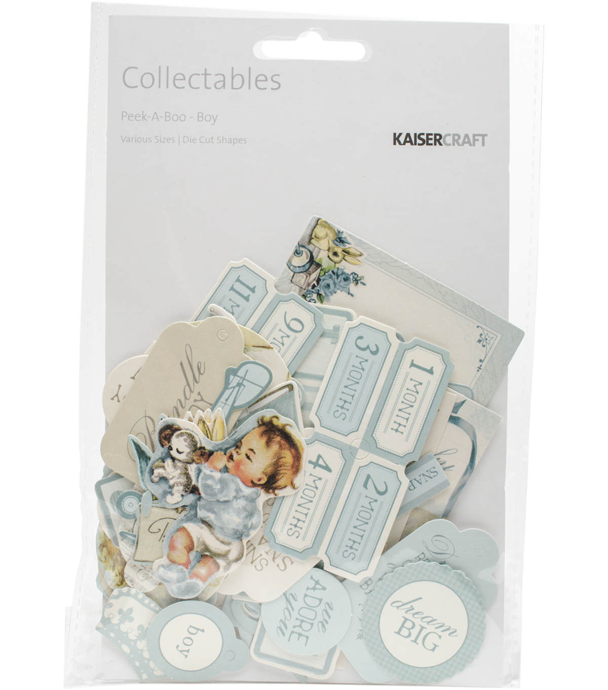 Kaisercraft Peek-A-Boo Collectables Cardstock Die-Cuts-Boy
