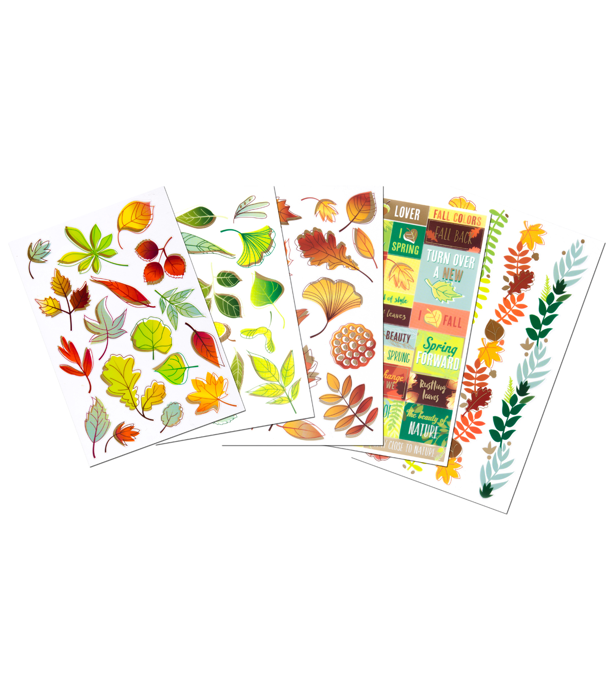 Sticko® 76 Pack Stickers Flip Pack-Leaves & Foliage