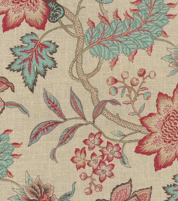 Waverly Upholstery Fabric 54\u0022-Jacobean Flair/Vintage