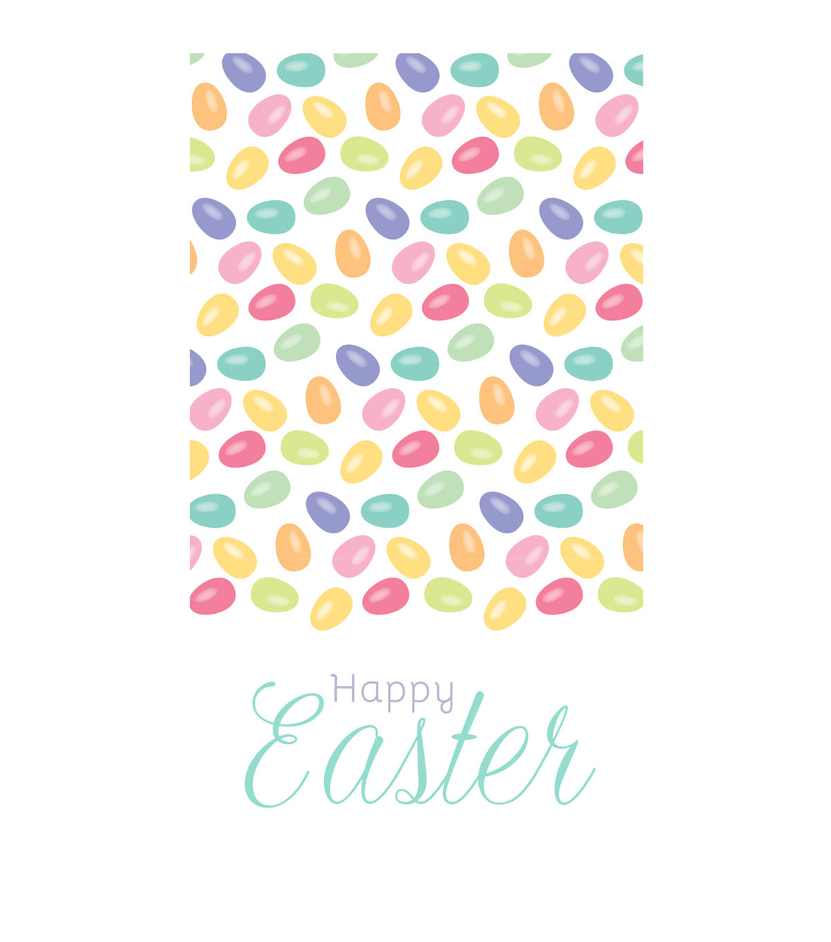 Easter Pack of 16 Paper Napkins-Jelly Bean