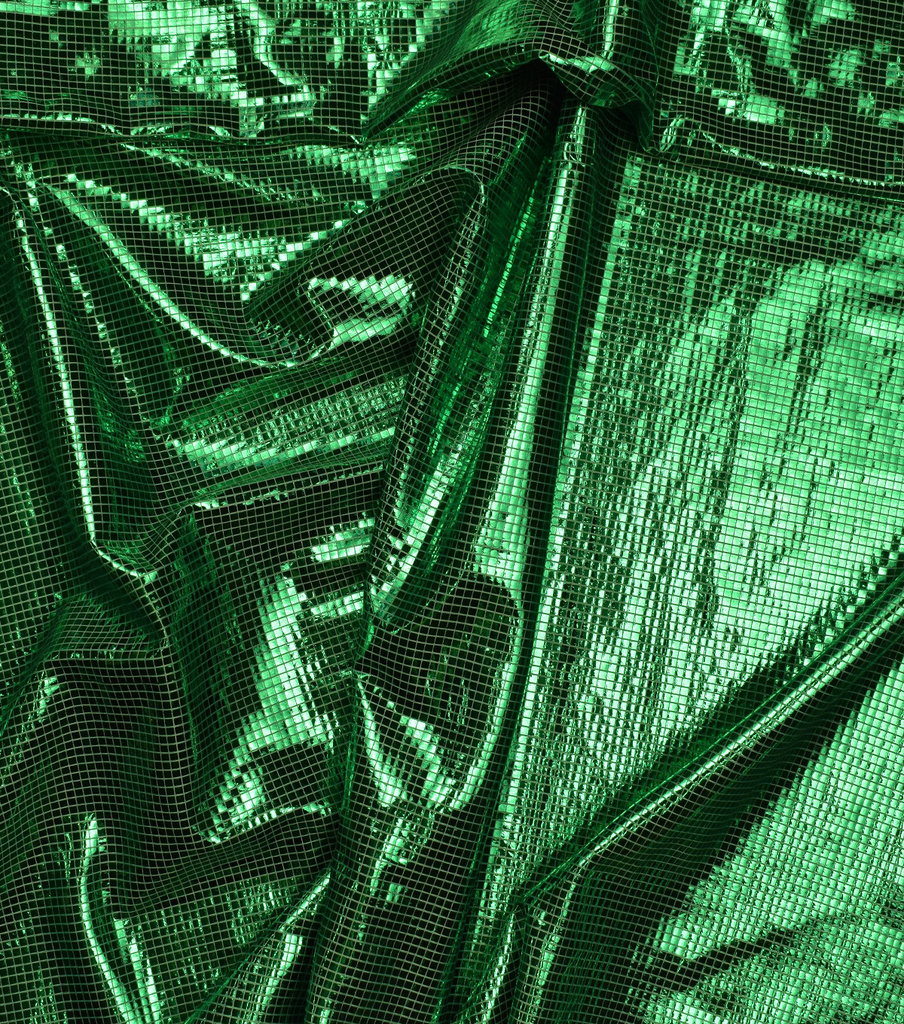 Metallics Bodre Fabric 58\u0022-Green