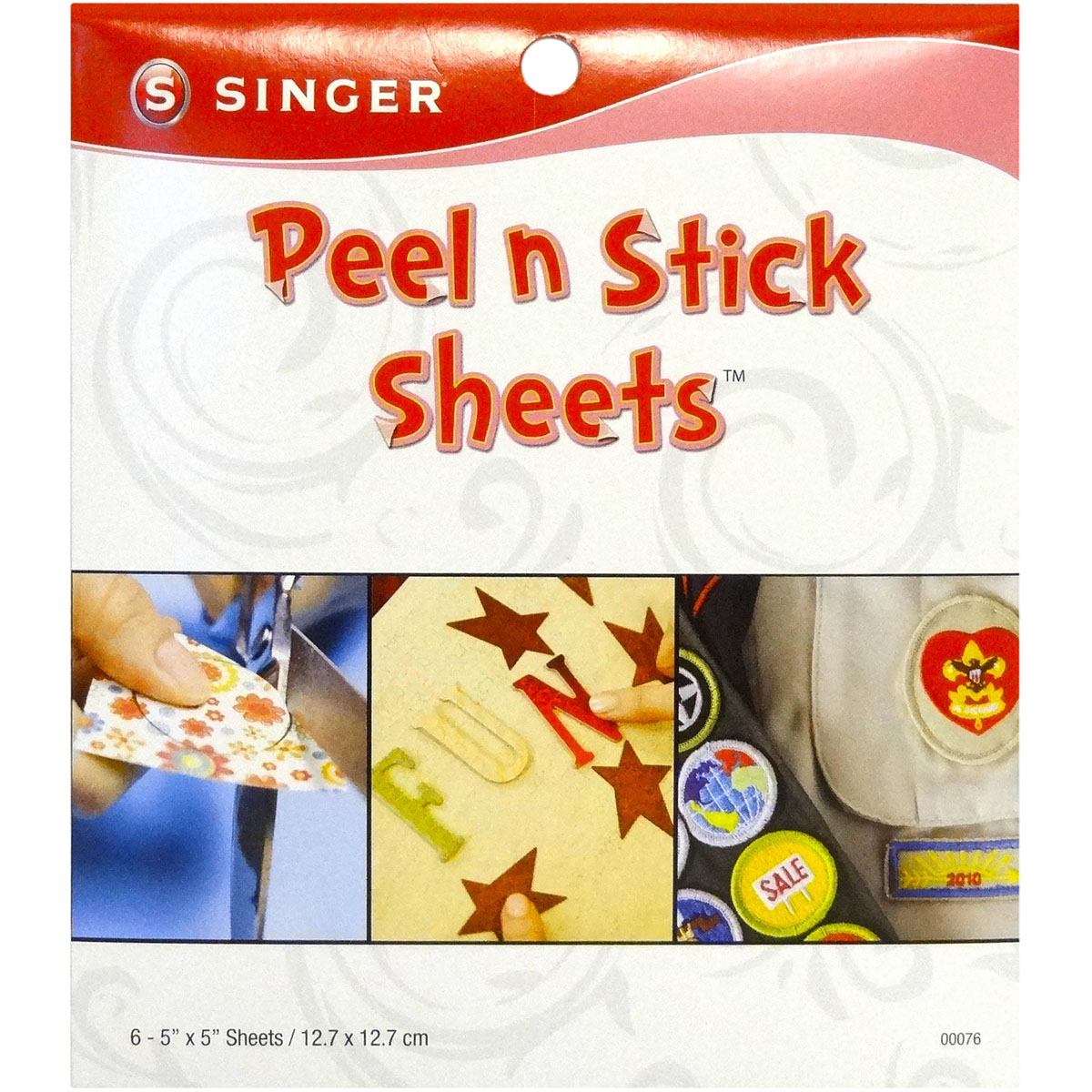 Peel N Stick Sheets 5\u0022X5\u0022 Plus Stencil 6/Pkg