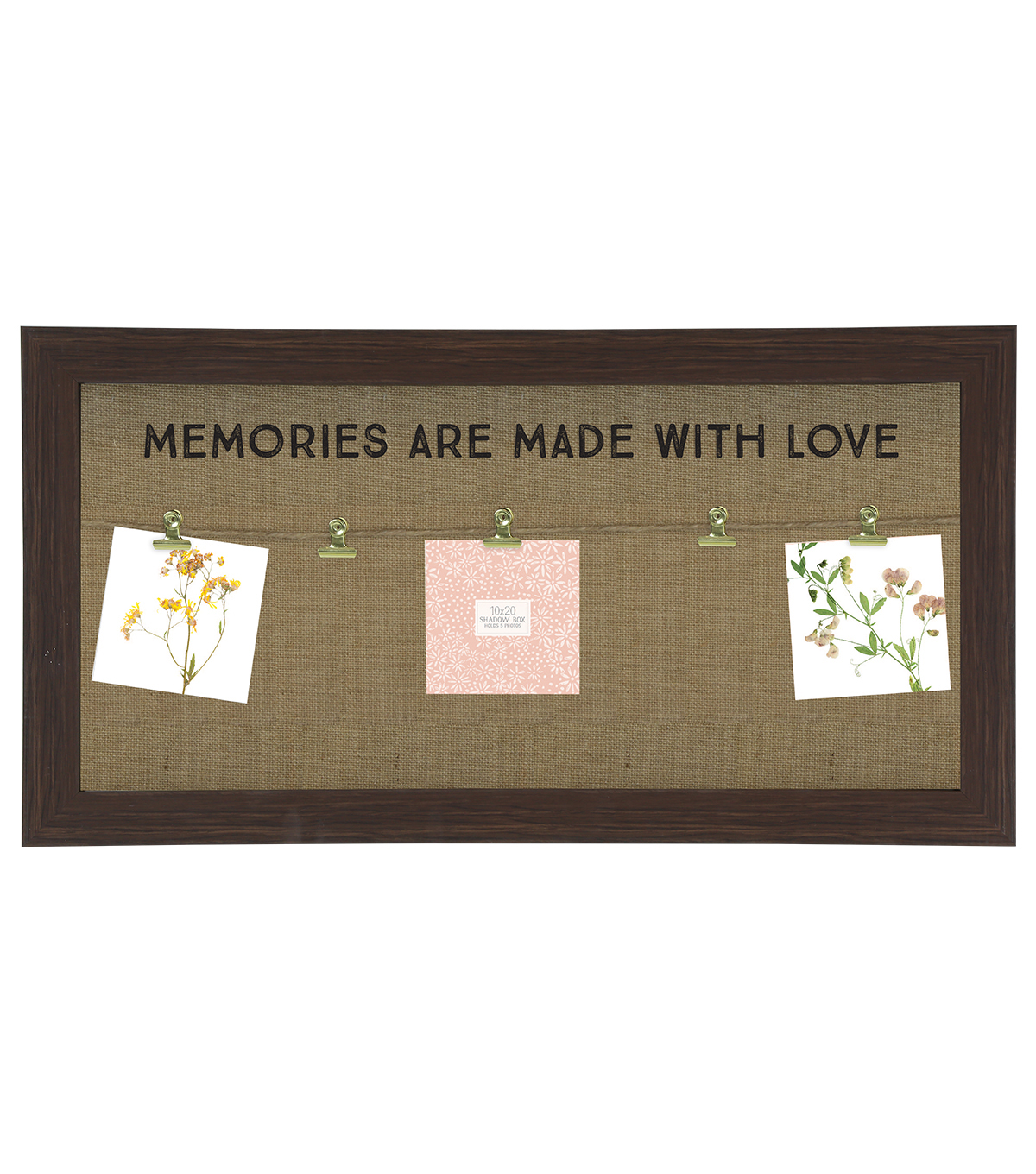 Wood Clipboard with Wire-Memories Are Made with Love