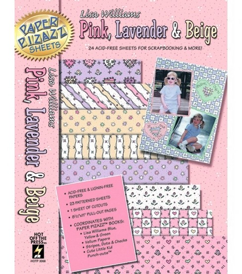 Hot Off The Press 8-1/2\u0022x11\u0022 Paper Pack-23PK/Pink&Lavender