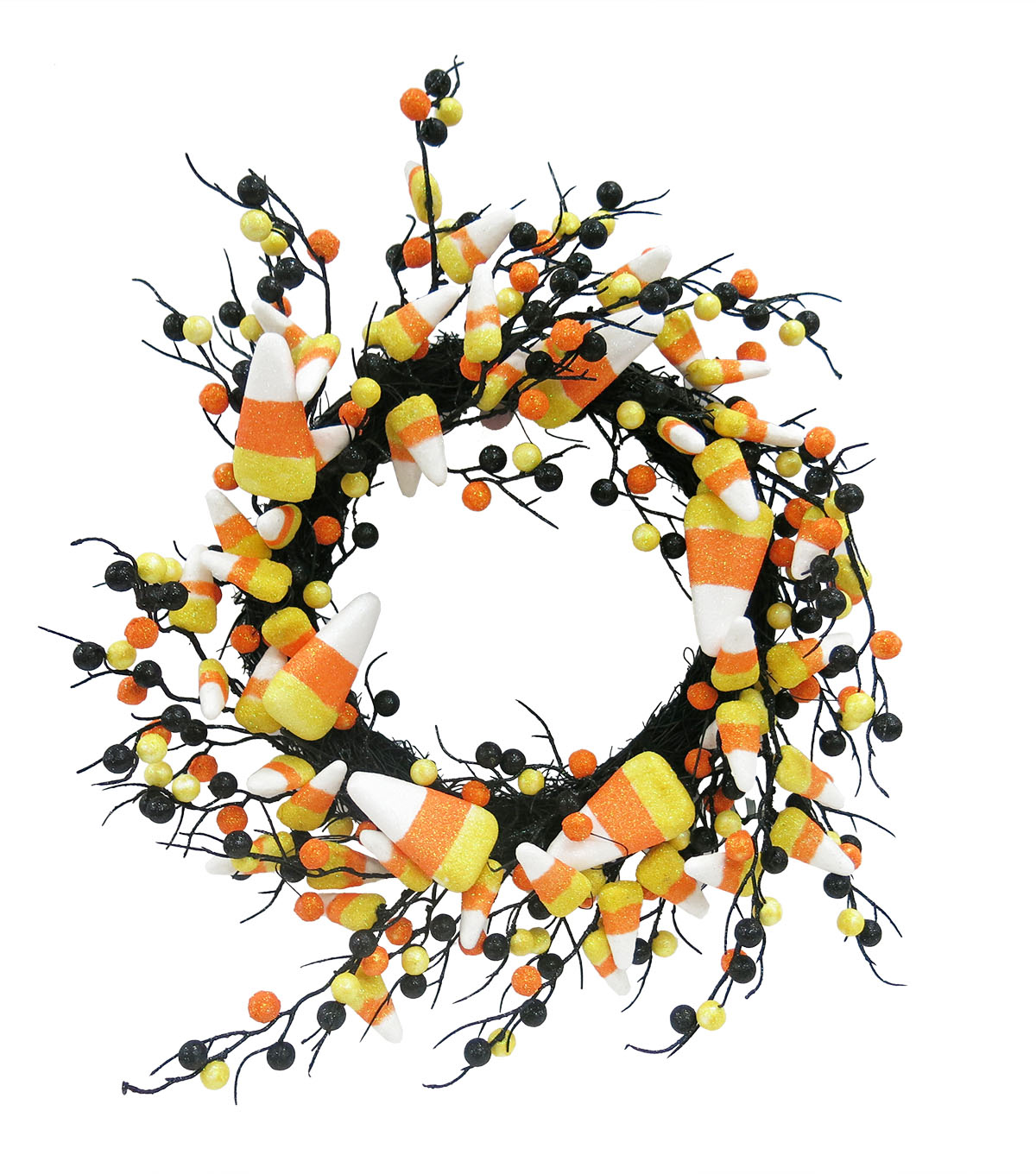 Maker's Halloween Candy Corn Wreath