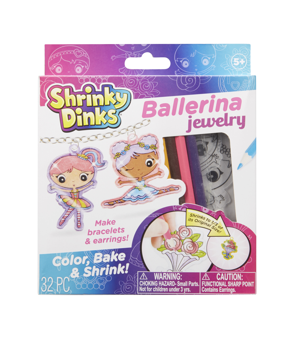 Alex Toys Shrinky Dinks Jewelry Kit-Ballerina