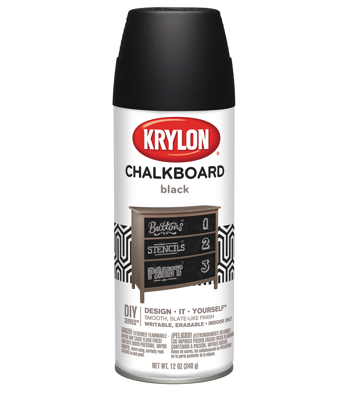 Chalkboard Aerosol Spray 12oz-Black
