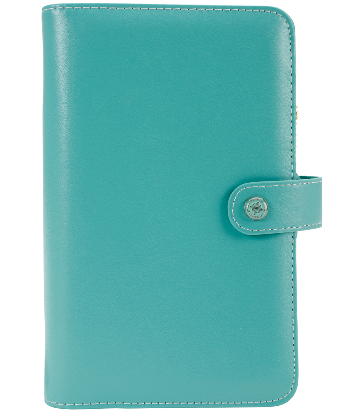 "Faux Leather Personal Planner Binder 5.2""X8""-Jade"