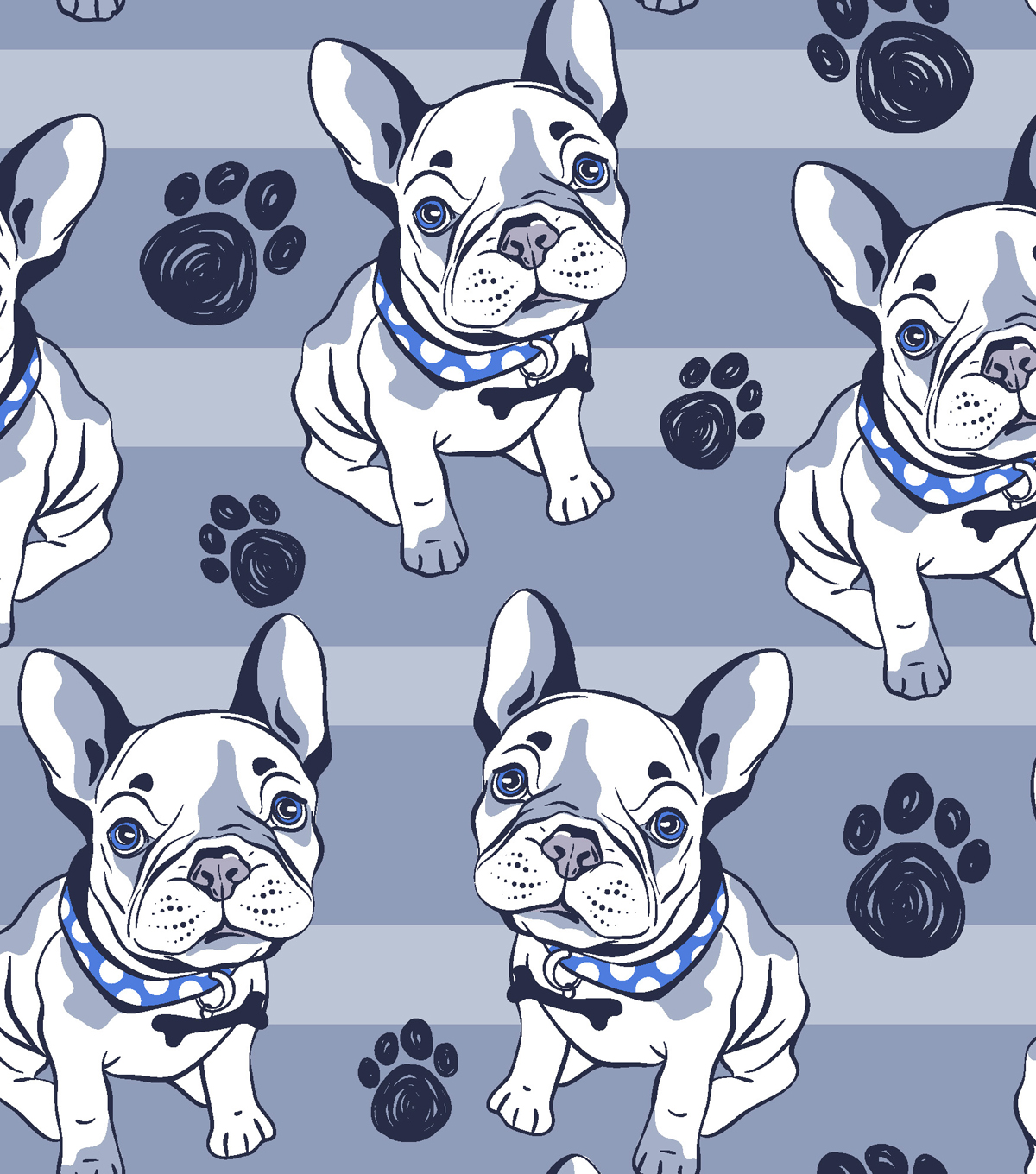 Snuggle Flannel Fabric 42\u0022-Bulldog Blue Stripe