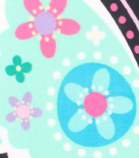 No-Sew Throw Fleece Fabric 48\u0022-Large Butterfly Panel
