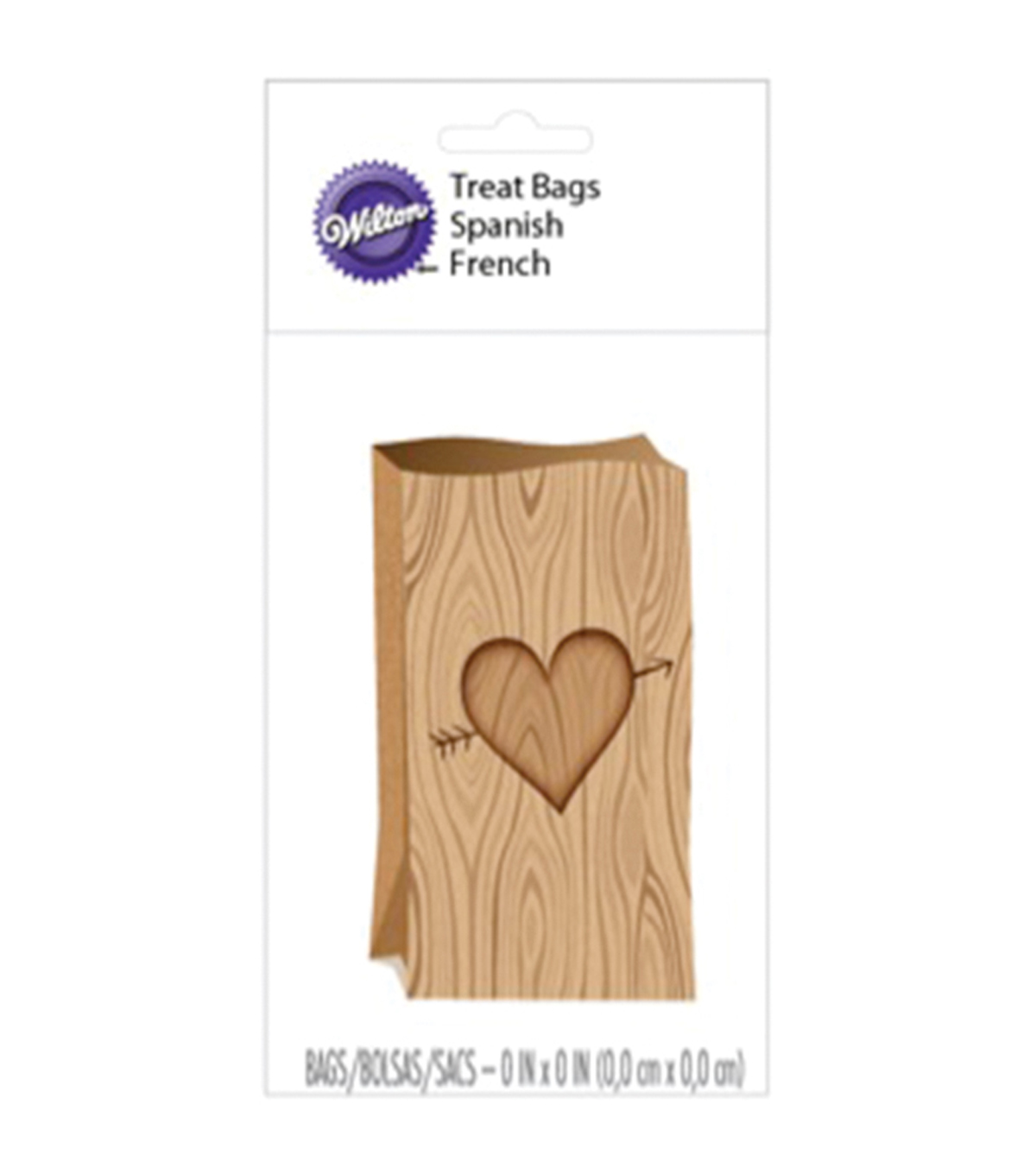 Treat Bags 6.5\u0022X3.5\u0022 8/Pkg-Tree Heart