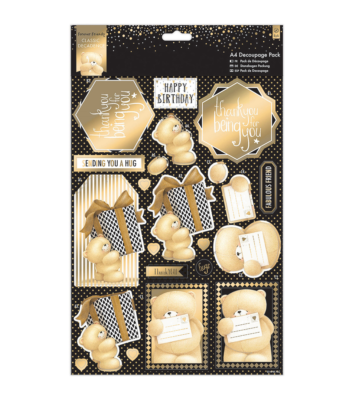 Docrafts Forever Friends Classic Decadence A4 Decoupage Pack-Star