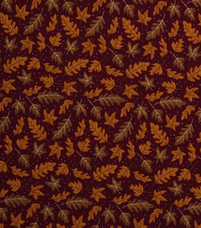 Holiday Showcase™ Harvest Cotton Fabric 43\u0022-Tossed Leaves