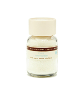 Martha Stewart Coarse Glitter .4mm Crystal 1.5oz
