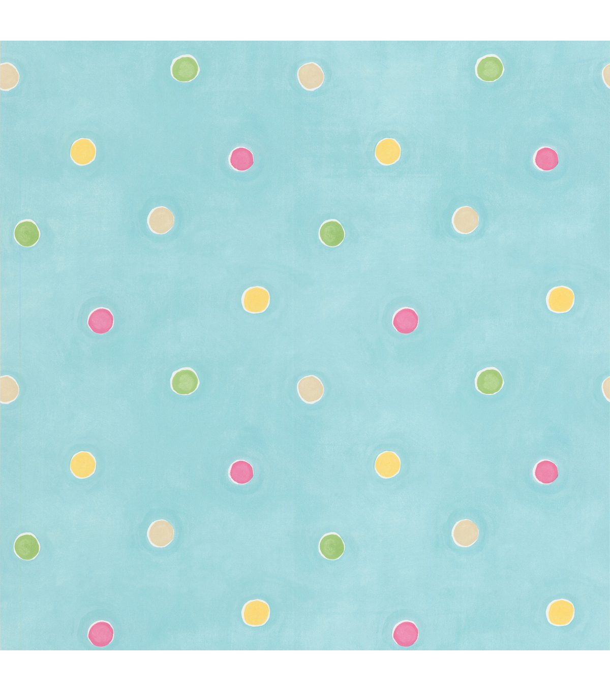 Sprinkles Aqua Polka Dots Wallpaper Sample