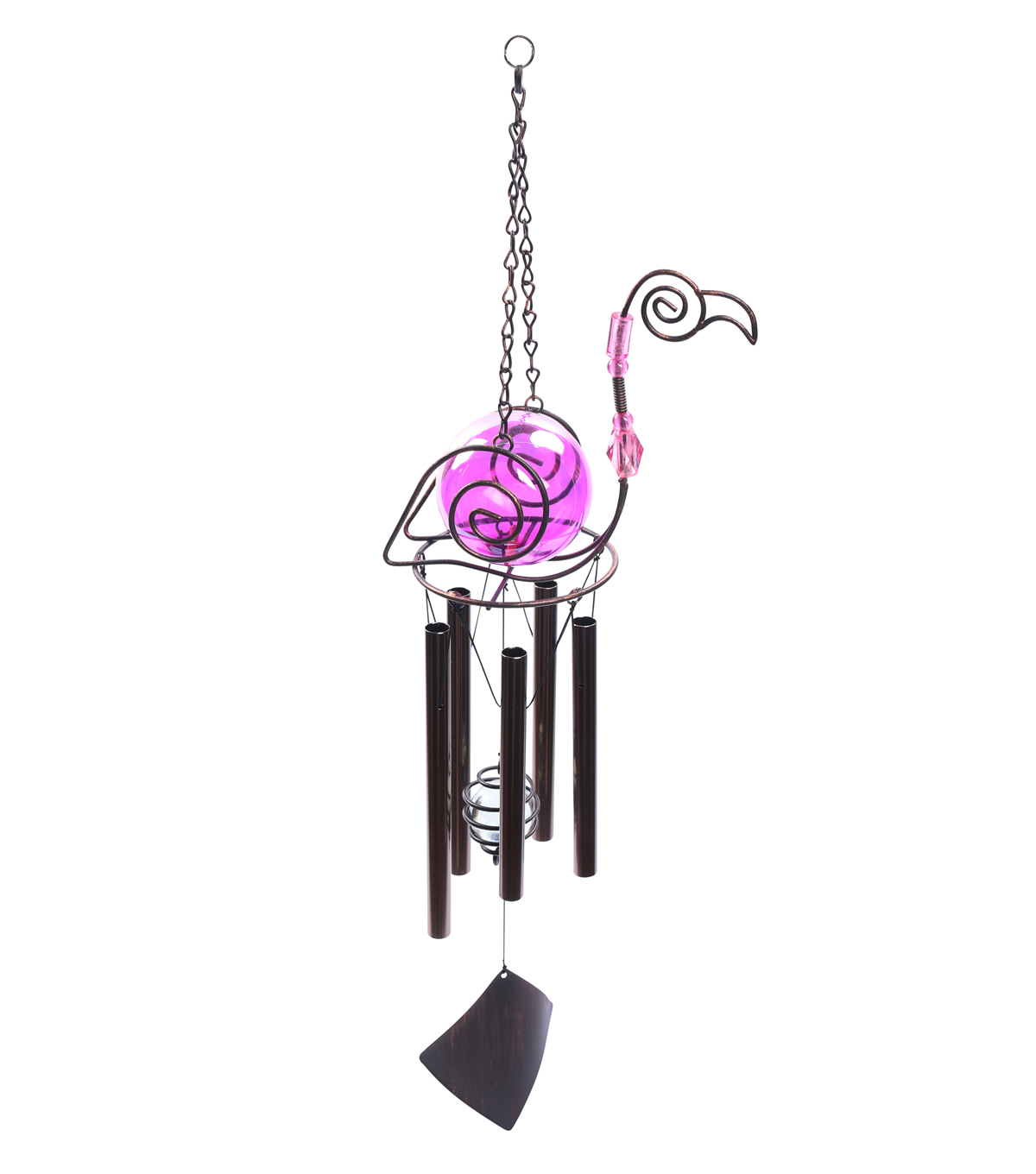 Hello Spring Gardening Flamingo Wind Chime-Bronze