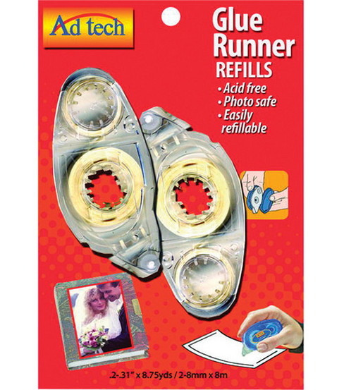 Permanent Glue Tape Runner Refill 2/Pkg-.31\u0022X8.75yd