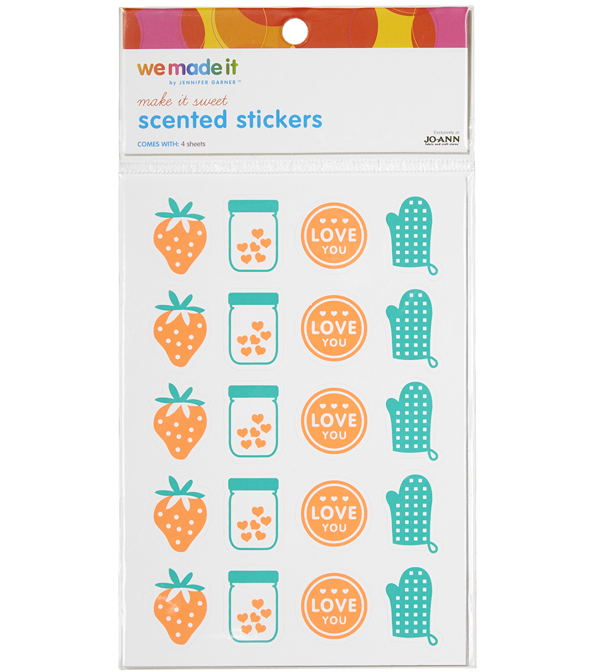 We Made It By Jennifer Garner™ Scented Stickers Strawberry