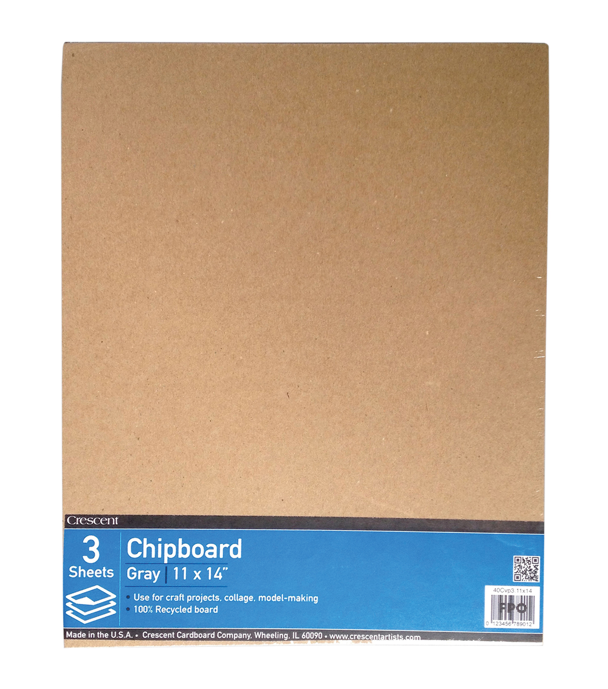 Crescent Cardboard Co Recycled Chipboard Value Pack 11''x14''
