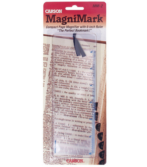MagniMark 3x Compact Bookmark Magnifier with 6\u0022 Ruler