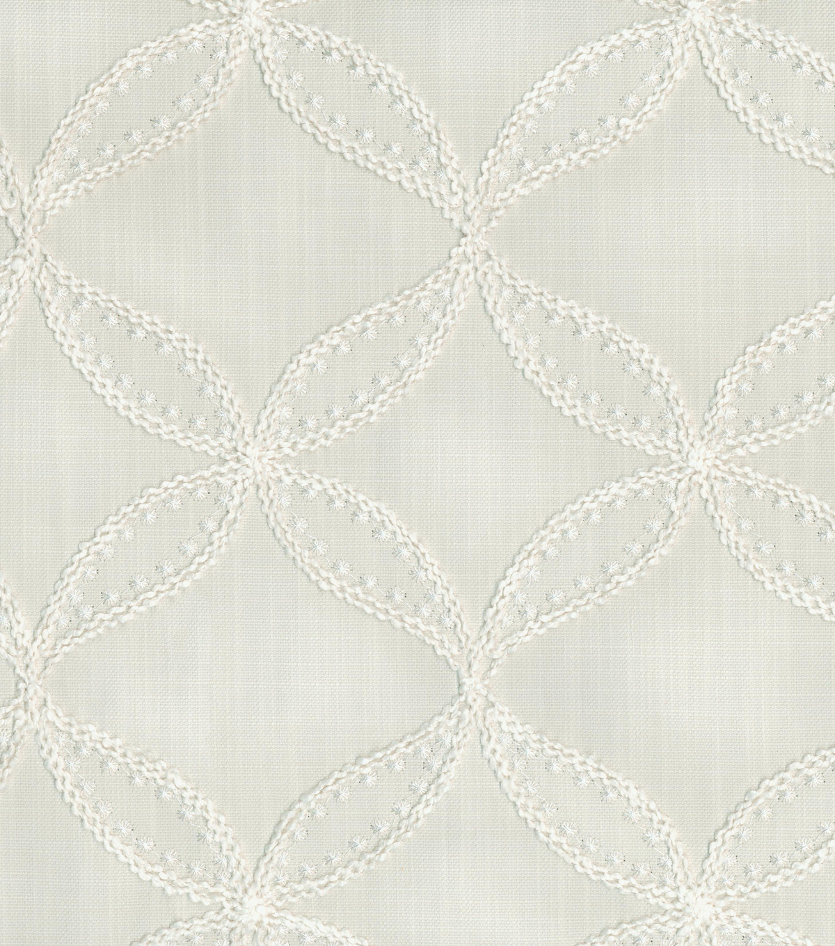 Williamsburg Upholstery Fabric 52\u0022-Tanjib Emb/Snow